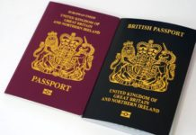 Old and new British passports
