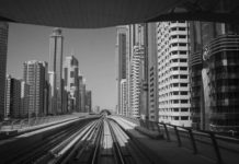 Dubai City Metro Train